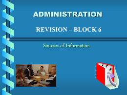 Sources of Information - Kings Park Secondary