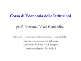 Diapositiva 1 - Università degli Studi di Roma Tor
