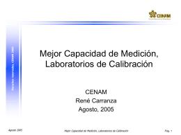 Diapositiva 1 - Centro Nacional de Metrología
