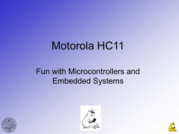 Motorola HC11 - Courses | Course Web Pages