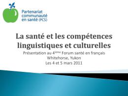 La santé et les compétences linguistiques et