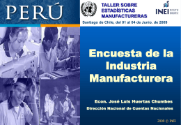 Encuesta Manufactura - United Nations Statistics