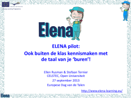 ELENA project: early e-learning of neighbouring
