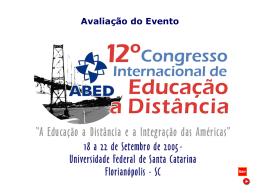 Avalição do 12º Congresso Internacional de