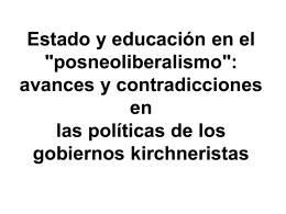 Estado y educación en el `posneoliberalismo`: