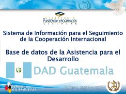 DAD GUATEMALA - Secretaría de Planificación y