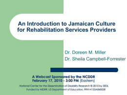 An Introduction to Jamaican Culture for