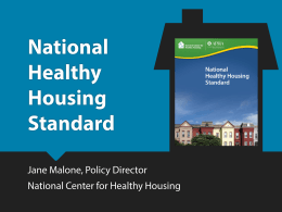 Green & Affordable Housing Renovations: Effects on