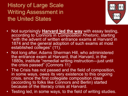 History of Writing Assessment in the United States