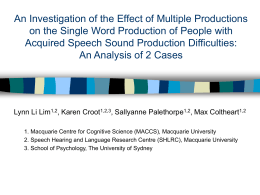 An Investigation of the Effects of Multiple