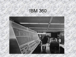 IBM 360 - Dpto. Informática (Universidad de
