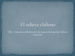 El relieve chileno - Historia, Geografía y