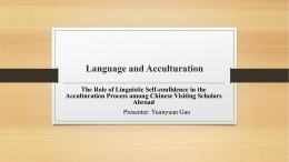 Language and Acculturation