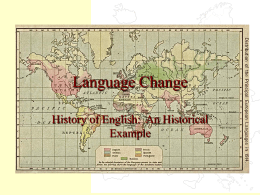 Language Change - University of Florida