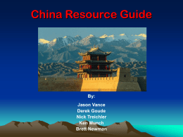 China Resource Guide - Oregon State University