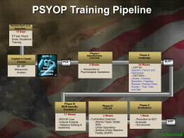 PSYOP Training Pipeline