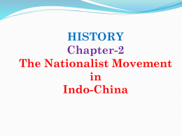 HISTORY CHAPTER-2 The Nationalist Movement in