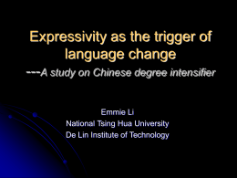 Expressivity as the trigger of language change