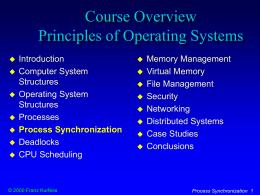 Process Synchronization - California Polytechnic