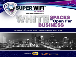 White Spaces: Smart Grid`s Second Life?