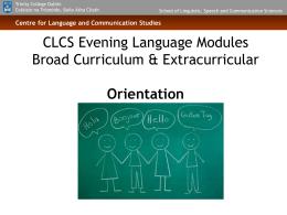 CLCS Evening Language Modules