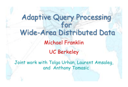 Adaptive Query Processing for Wide