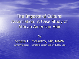 The Impacts of Cultural Assimilation: A Case Study