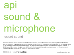 api sound and microphone
