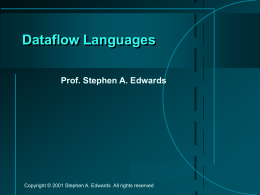 Dataflow Languages - Columbia University