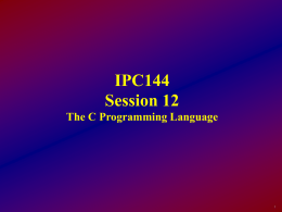 IPC144 - Session12
