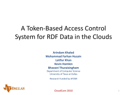 A Token-Based Access Control System for RDF Data