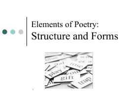 Poetic Forms - San Marcos Unified School District