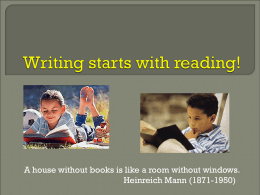 Writing starts with reading!