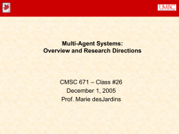 Overview of Multiagent Systems