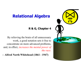Relational Algebra - University of California,