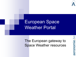 European Space Weather Portal