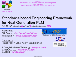 Standards-based Engineering Framework for Next