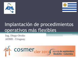 Implementación de procedimientos operativos más