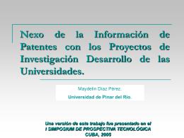 Nexo de la Información de Patentes con los