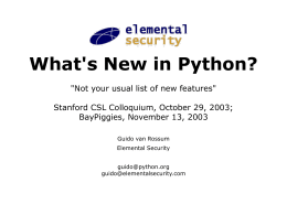 What`s New in Python