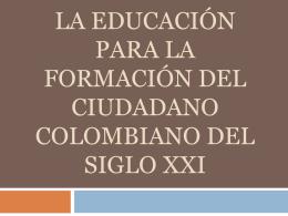 LA EDUCACIÓN PARA LA FORMACIÓN DEL CIUDADANO