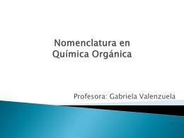 Nomenclatura en Química Orgánica