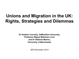 Unions and Migration: Rights, Strategies and