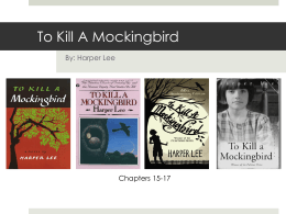 To Kill A Mockingbird - Chandler Unified School