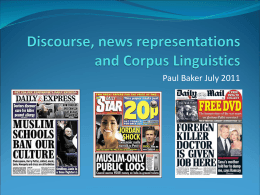 Discourse, Ideology and Corpus Linguistics