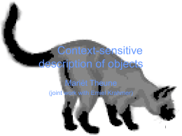 Context-sensitive description of objects