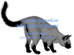 Context-sensitive description of objects