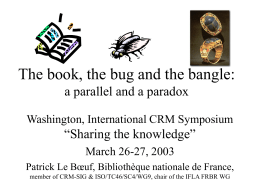 The book, the bug and the bangle: a parallel and a