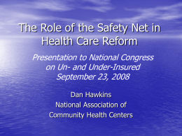 Health Care and Health Policy in the U.S.