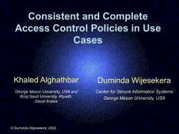 Consistent and Complete Access Control Policies in